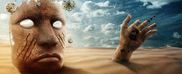 Surreal Desert Scene