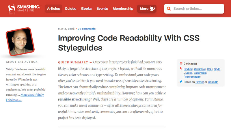 Improving Code Readability With CSS Styleguides