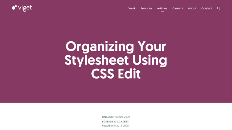 Organizing Your Stylesheet Using CSS Edit