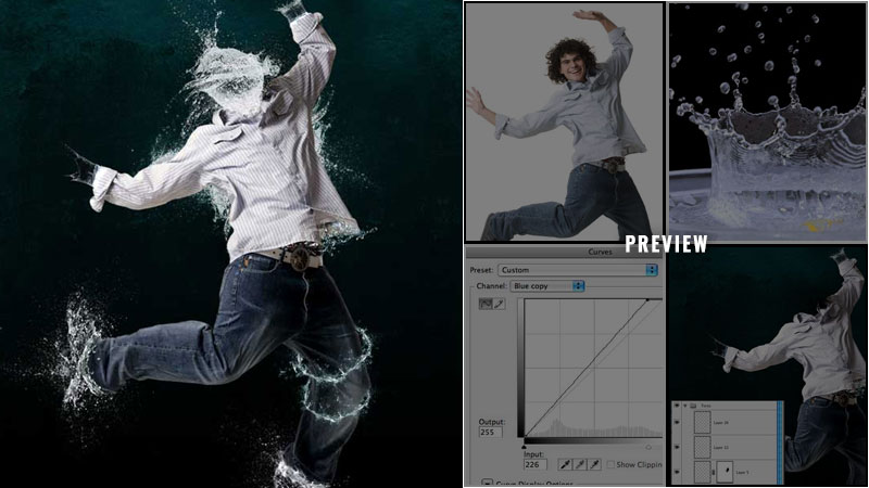 Water effect photo montage